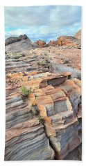 Sunrise On Valley Of Fire Bath Towel by Ray Mathis