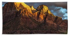 Sunrise On Zion National Park Hand Towel