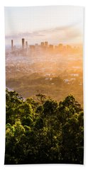 Sunrise Over Brisbane Hand Towel by Parker Cunningham