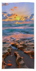 Sunrise Over Carlin Park In Jupiter Florida Hand Towel