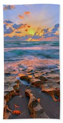 Hand Towel featuring the photograph Sunrise Over Carlin Park In Jupiter Florida by Justin Kelefas