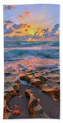 Sunrise Over Carlin Park In Jupiter Florida Bath Towel by Justin Kelefas