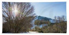 Sunrise Over Cataloochee Ski Hand Towel