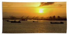 Sunrise Over Colon Hand Towel