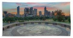 Sunrise Over Downtown Austin, Texas 3 Hand Towel by Rob Greebon