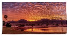 Bath Towel featuring the photograph Sunrise Over Gila Mountain Range by Robert Bales