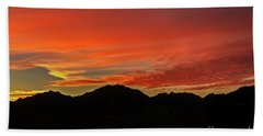 Sunrise Over Gila Mountains Bath Towel by Robert Bales
