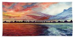 Sunrise Over Indian Lake Bath Towel