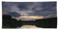 Sunrise Over Indigo Lake Bath Towel