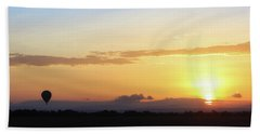 Sunrise Over Kenya Africa With Balloon Hand Towel