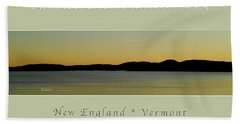 Sunrise Over Malletts Bay Greeting Card And Poster - Six V4 Bath Towel