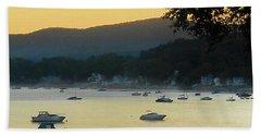 Sunrise Over Malletts Bay Panorama - Nine V2 Detail Hand Towel by Felipe Adan Lerma