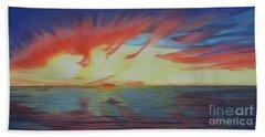 Sunrise Over Matagorda Bay Hand Towel