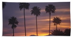 Sunrise Over Mountains Palm Desert Hand Towel
