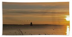 Sunrise Over New Bedford Bath Towel