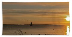 Sunrise Over New Bedford Hand Towel