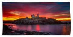 Sunrise Over Nubble Light Hand Towel