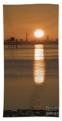 Sunrise Over Portsmouth Hand Towel