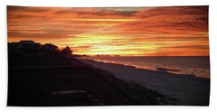 Sunrise Over Santa Rosa Beach Hand Towel