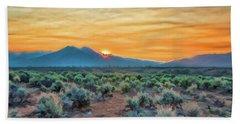 Sunrise Over Taos Bath Towel