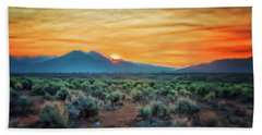 Sunrise Over Taos II Bath Towel