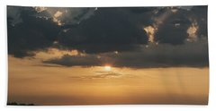Sunrise Over The Isle Of Wight Hand Towel