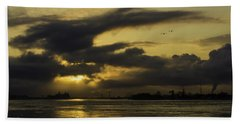Bath Towel featuring the photograph Sunrise Over The Ninth Ward by Chris Coffee