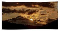 Sunrise Over The Peak Hand Towel