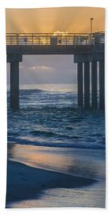 Sunrise Over The Pier Hand Towel