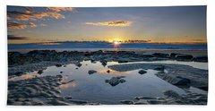 Hand Towel featuring the photograph Sunrise Over Wells Beach by Rick Berk