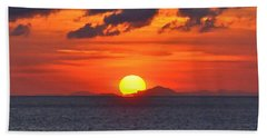 Sunrise Over Western Cuba Hand Towel
