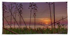 Sunrise Palm Blooms Hand Towel