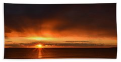 Sunrise Rays Hand Towel by Nancy Landry