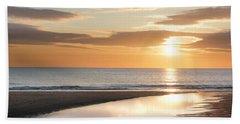 Sunrise Reflections At Aberdeen Beach Bath Towel
