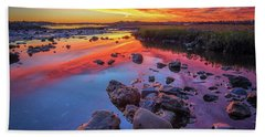 Sunrise Reflections In Harpswell Bath Towel