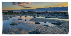 Hand Towel featuring the photograph Sunrise Reflections On Wells Beach by Rick Berk