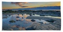 Bath Towel featuring the photograph Sunrise Reflections On Wells Beach by Rick Berk