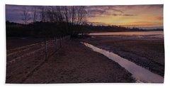Sunrise, Rutland Water Hand Towel