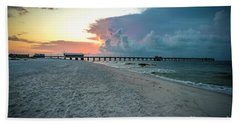 Hand Towel featuring the photograph Sunrise Seascape Gulf Shores Al Pier 064a by Ricardos Creations