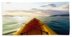 Sunrise Seascape Kayak Adventure Hand Towel