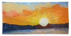 Sunrise At Pine Point Hand Towel