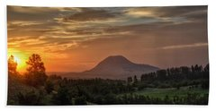 Sunrise Serenity  Hand Towel by Fiskr Larsen