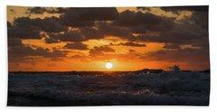 Sunrise Splash Surf Delray Beach Florida Bath Towel