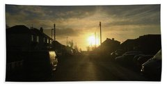 Sunrise Street Hand Towel by Andrew Middleton