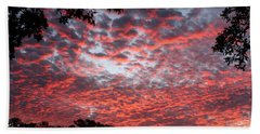 Sunrise Through The Trees Bath Towel by Sheila Brown