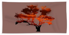 Sunrise Tree 2 Hand Towel