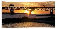 Sunrise Under Coleman Bridge Hand Towel