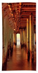 Sunrise Under The Pier Hand Towel