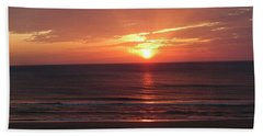 Sunrise Virginia Beach Hand Towel by Melissa Messick
