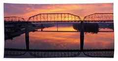 Sunrise Walnut Street Bridge 2 Bath Towel